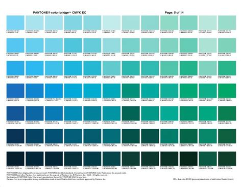 pantone colors pantone color bridge cmyk ec cheat sheets