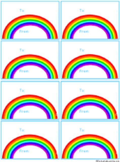 printable rainbow name tags rainbow gift tags to print enchantedlearning com