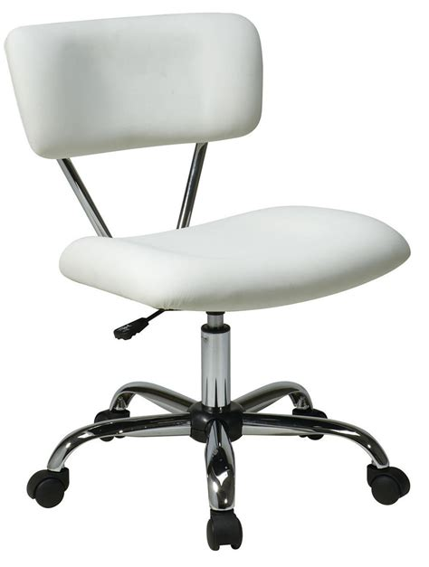 White Office Desk Chair Vista Task Chair White Vinyl Desk Task Swivel Office Chair Chrome Frame Chairs