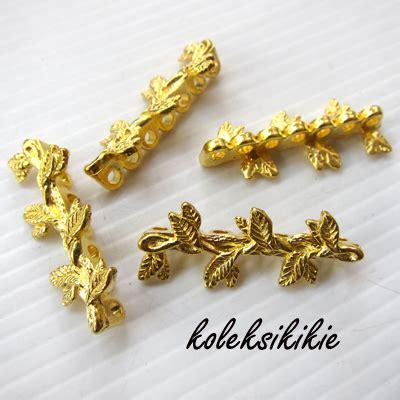 Stopper Lonceng 6mm Bahan Aksesoris Gelang Kalung pembatas daun lb7 gold koleksikikie