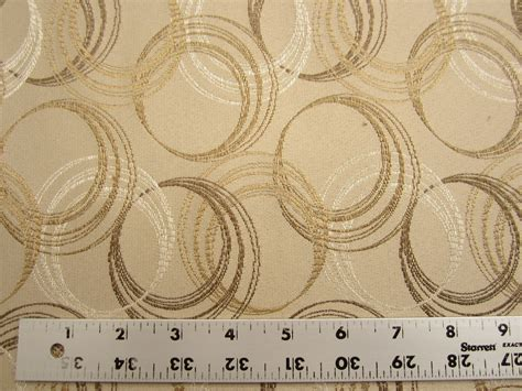 Fabric For Drapes And Upholstery by 13 Yards Of Geometric Circles Upholstery Or Drapery Fabric