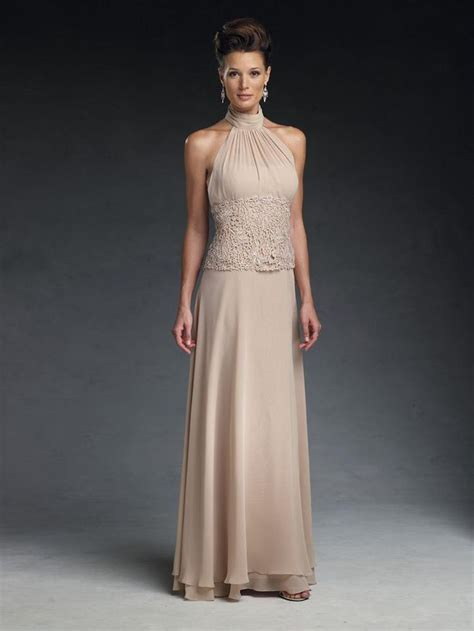 champagne lace mother   bride gowns   ankle