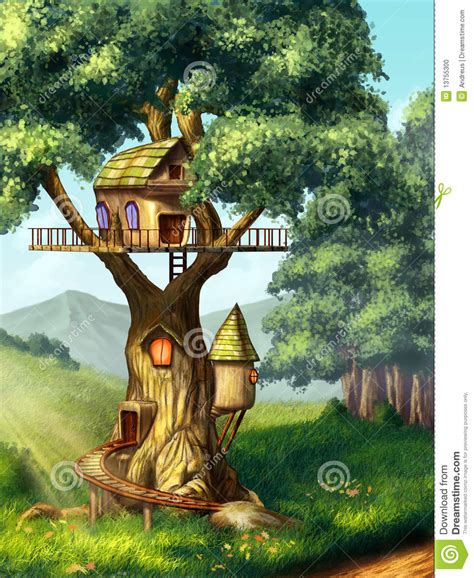 Fairy House Plans Tree House Stock Photo Image 13755300