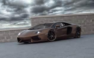 brown cars italian lamborghini aventador supercars walldevil