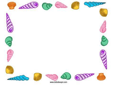 cornici colorate cornicetta con conchiglie colorate tuttodisegni