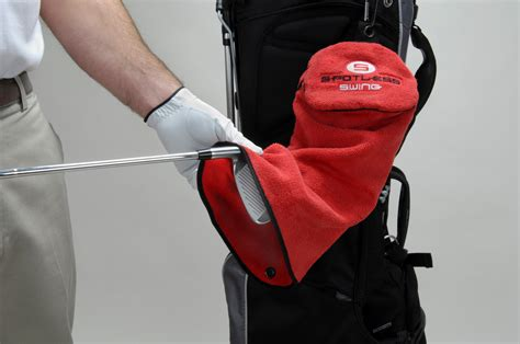 spotless swing golf towel lowering golf scores and preserving golf clubs with the