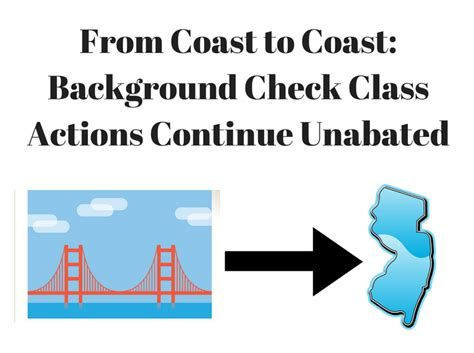 coast  coast background check class actions