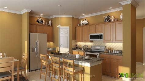 3d kitchen designs modern 3d kitchen design view yantram architectural