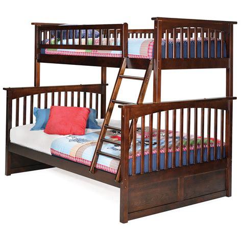 twin full bed columbia twin full bunk bed walnut ab55204