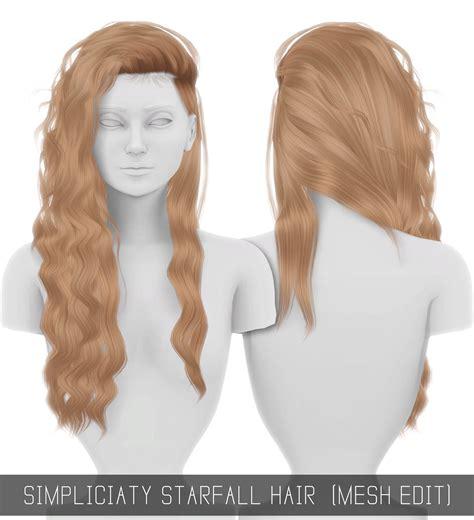 simplicity hair cc sims 4 starfall hair mesh edit simpliciaty