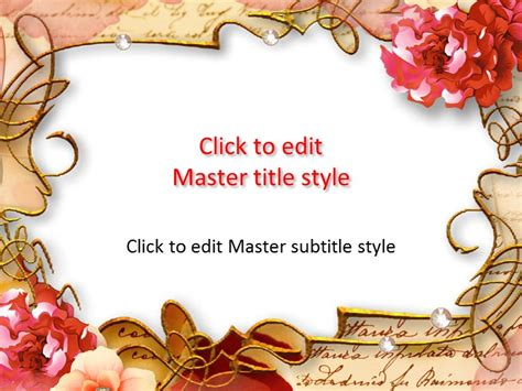 Flowers Powerpoint Templates Flower Template Powerpoint Free Style By
