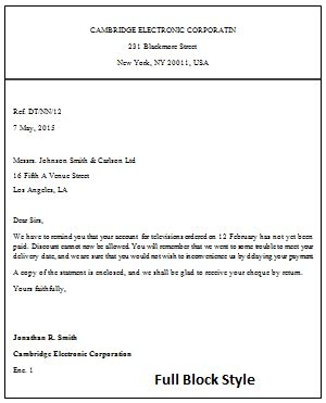 business letter sles block style the styles of business letters block style block