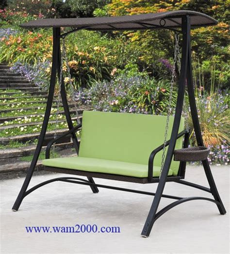 buy garden swing patio garden aluminum pe rattan swing chair for outdoor