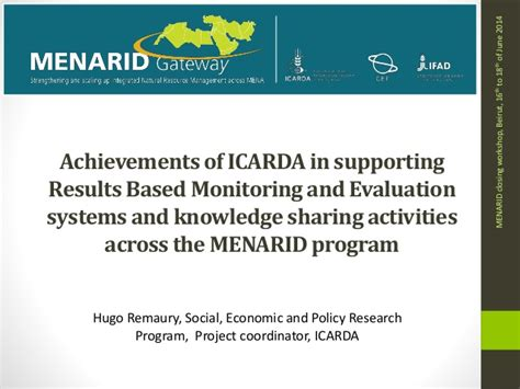 remaury achievements of icarda