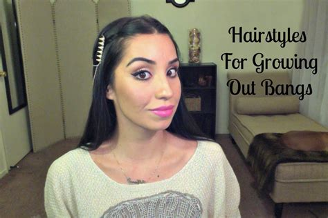 hairstyles for when you are growing out bangs hairstyles for growing out bangs youtube