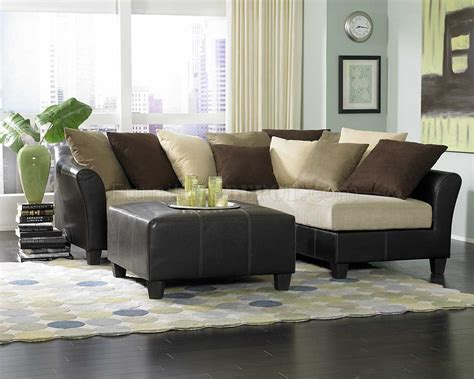 sofas on a budget 9917 carrington sectional sofa in beige microfiber by