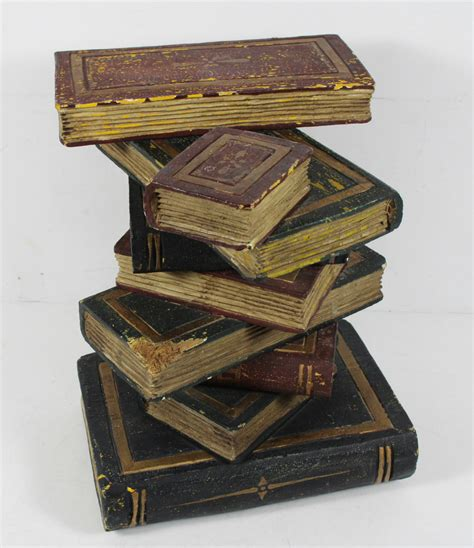vintage woodworking books vintage wood book stack library stand table decor home ebay