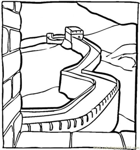 coloring pages great chinese wall countries gt china