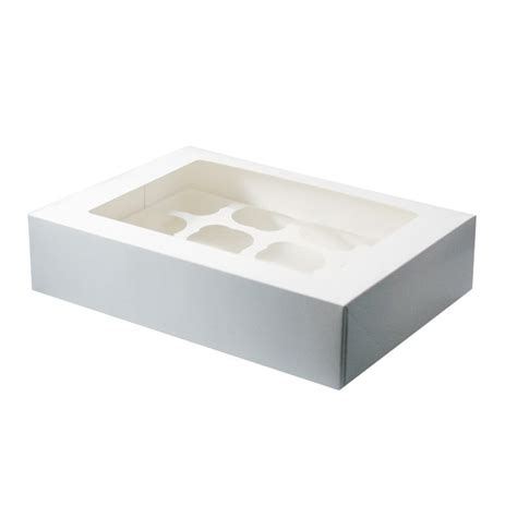 cupcake box with window white window 12 cupcake box with insert