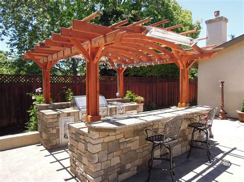 Alfresco Kitchen Designs by Woodwork Pergola Plans Redwood Pdf Plans