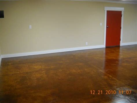 decorative concrete basement floor dayton oregon