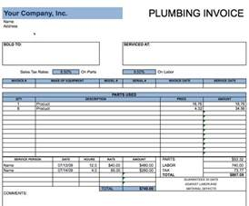 plumber invoice template plumbing invoice template free invoice templates