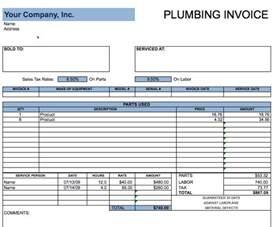 plumbers invoice template plumbing invoice exle free invoice templates