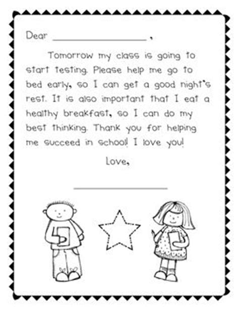 Parent Letter Regarding Testing Parent Notes Printables And Test Prep On