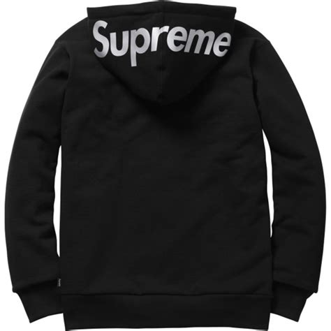 Hoodie Supreme 13 supreme 3m reflective logo thermal zip up hoodies