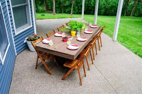diy outdoor patio table patio table wooden folding