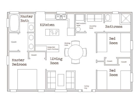 2 Bedroom House Plans 1000 Sq Ft by Small House Plans 1000 Sq Ft Small Two Bedroom House
