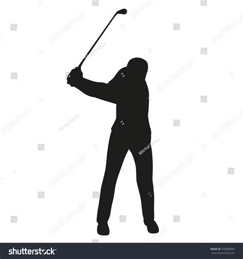 swing golf italiano golf swing golf player isolated silhouette stock vector