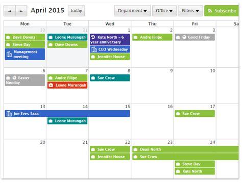 online planner free online hr employee calendar staff squared