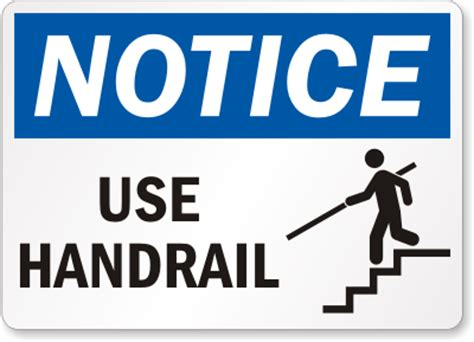 Handrail Safety handrail signs use handrail signs mysafetysign