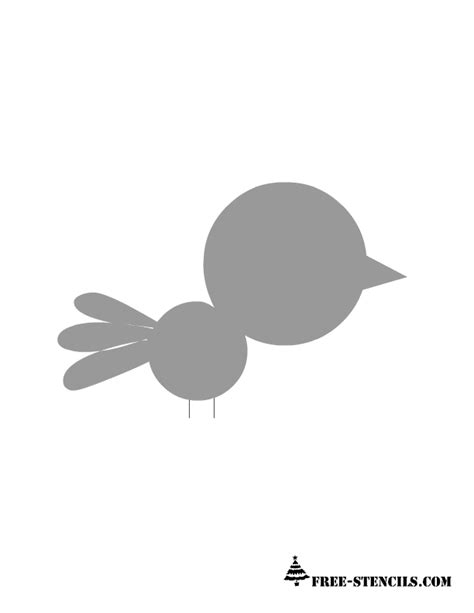 Printable Stencils For Kids Rooms   free coloring pages baby bird stencil for kids room wall