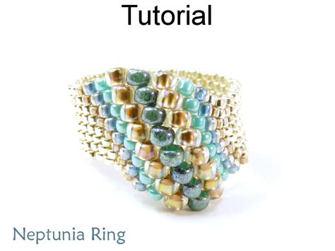 bead ring beading tutorial pattern beaded ring peyote stitch