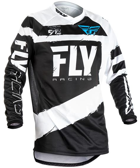 fly racing motocross gear f 16 black white jersey fly racing motocross mtb bmx
