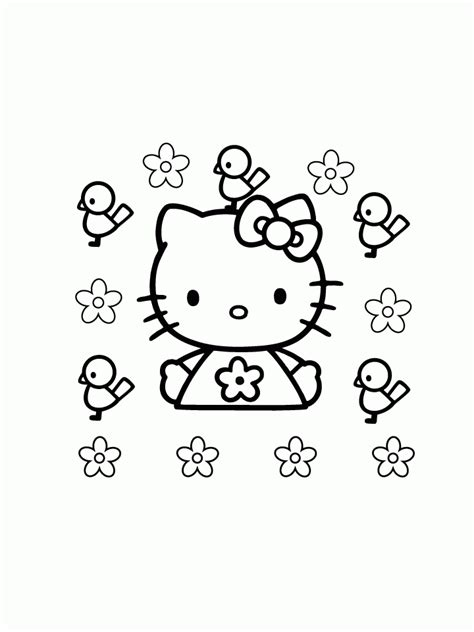 hello kitty coloring page az coloring pages