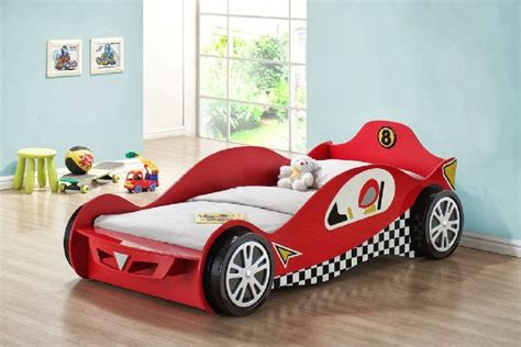 kid car bed creative race car beds for toddlers homesfeed