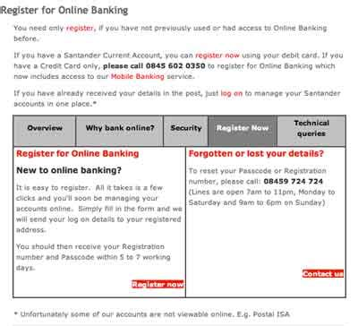 Santander Online Banking Log on My Online Account