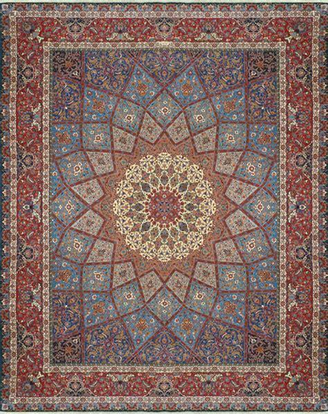 rug where the center looks like galaga tabriz rug
