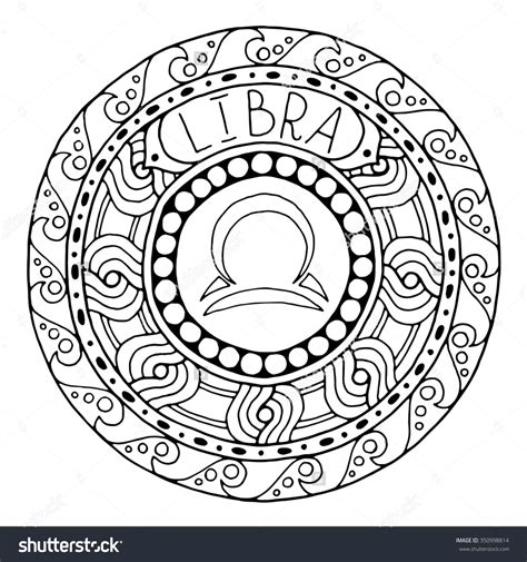 zodiac mandala coloring pages zodiac sign of libra shutterstock 350998814 adult