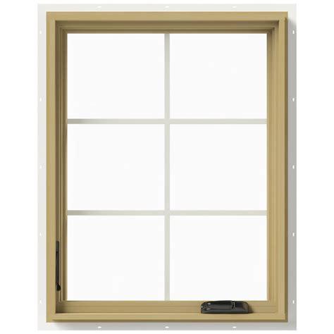 Jeld Wen Aluminum Clad Wood Windows Decor Jeld Wen 28 In X 36 In W 2500 Left Casement Aluminum Clad Wood Window Thdjw140100385