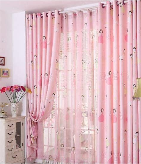 pink princess blackout window curtains  kids girls