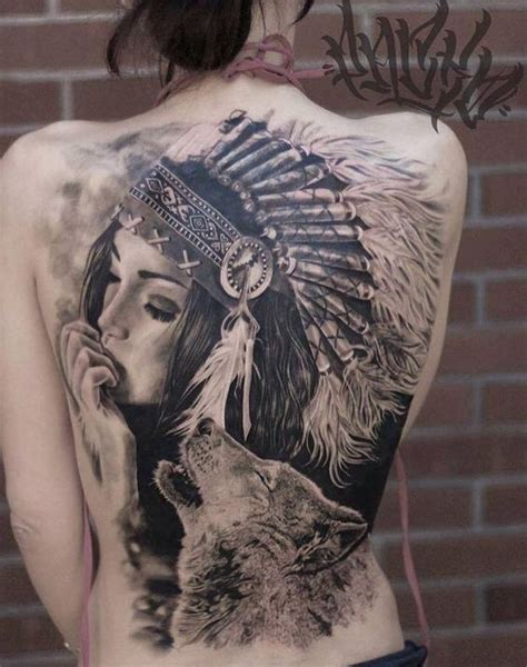 Native American Tattoos Top 100 For The Free Spirited American Indian Wolf Tattoos