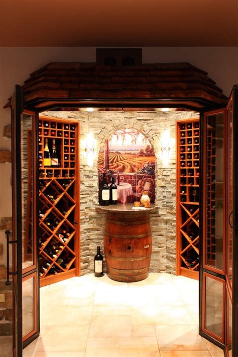 Wine Barrel Chandelier Lighting Wine Room Ideas