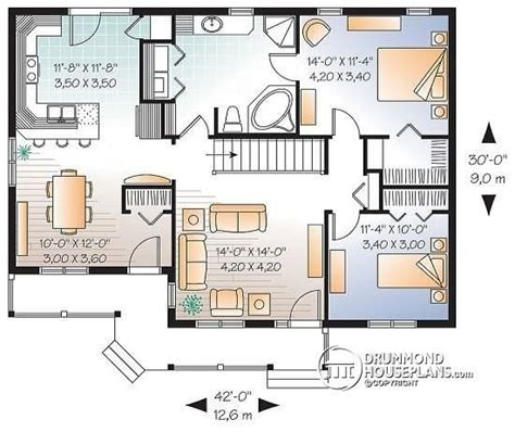 house plan w3131 detail from drummondhouseplans com 2 bedroom single storey house plans best of house plan