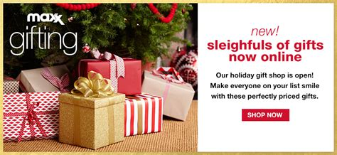 Tjmaxx Tjx Com Gift Card - maxx gifting new sleighfuls of gifts now online our holiday gift shop is open