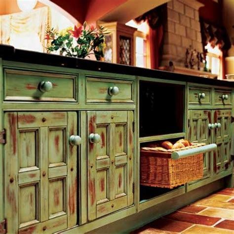 rustic green kitchen cabinets an idea for the tulsa island painting open cabinets