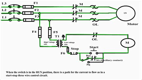 dol starter circuit diagram ideas